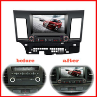 car DVD player for Mitsubishi lancer bluetooth USB Analog TV IPOD Steering wheel control Touch Screen AM FM