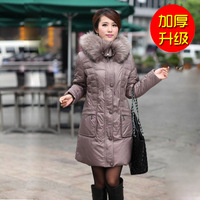 2013Winter Women's Plus Size White Duck Down Coat With Raccoon Fur Collar Thickening Down jackets women winter outwear WP003