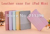 Touch Pen + Screen protector + Basketball grain Leather Case for iPad Mini 7.9'' with stand ,High quality,Freeshipping
