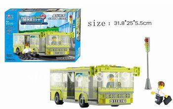 3D Building Blocks Set  Enlighten Bus Children Kids Education Toys Christmas New Year Gift Free shipping