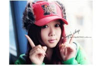Korean Hot Selling One Piece Retail Snow Winter Women's Hats Fashion Peaked Caps Casual Fur Headwear 4 Colors For Choose