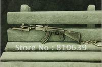 Bayonet AK-47 Miniature Gun Keychain Cross Fire Main Rilfe Keys Ring CS/CF Gun FANS Best Collection AK47 Series