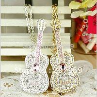 Hot sale, Crystal Musical Instrument guitar usb flash drive 4gb/8gb/16gb/32gb/64gb usb memory stick creative items free shipping
