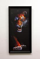 Free Shipping Quality box art decorative painting 3d stereoed fashion wall decoration tiger fashion C0033
