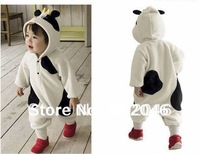 Autumn and winter super soft and lovely cows Bear Panda shape Romper climbing clothes +free shipping