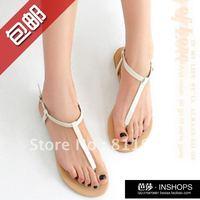 2012 hot summer Free Shipping Brief casual t belt pinch flat comfortable women's sandals