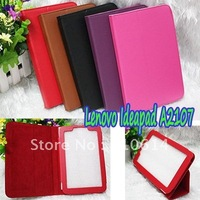 "PU Litchi Texture Folio Leather Stand Folding Case Cover Pouch for Lenovo Ideapad A2107 A2 7"" Tablet PC DHL EMS"
