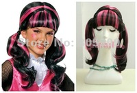 Promotion Free Shipping!New  A+++  Curly Wavy Synthetic Ponytail Monster High Draculaura Cosplay Party Wig  India  Hair  CB31