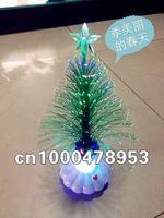 S12pcs/lot Christmas tree Christmas hat Fiber Flowers fiber optic lights fibrils  flowers wholesale Free shipping