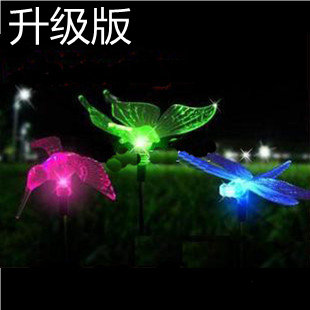 Solar lawn light butterfly lamp colorful dragonfly lamp solar garden lights 7 color light