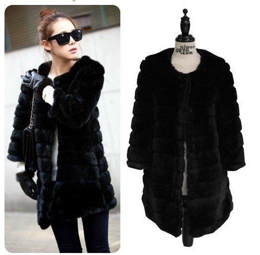 Womens Black Fur Coat