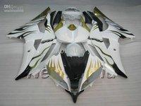 gold flame bodywork fairings for YZF R6 2008 2009 2010 YZF-R6 08 09 10 YZFR6 600 yzf600 fairing kit