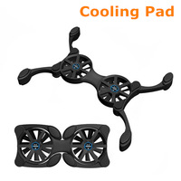 Free shipping New usb 2 fan cooling pad foldable cooler for laptop notebook radiator #8011