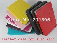 Touch Pen + Screen protector + ultrathin concise leather case for New iPad Mini 7.9'',High quality,Freeshipping