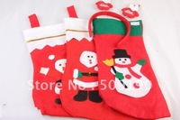 12pc/lot 2012 New arrival Christmas Stockings socks,Santa Claus Sock Stocking,Christmas Gift/Decoration Candy bags