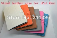 "Touch Pen+Screen protector + ultrathin leather case for iPad Mini 7.9"",High quality,Freeshipping"