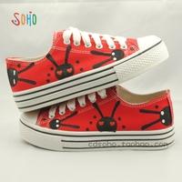 Hand-painted shoes bugs bunny cartoon rabbit platform shoes preppy style doodle gentlewomen shoes