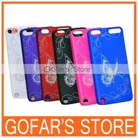 Printed Butterfly Matte Plastic Hard Case for iPod Touch 5100pcs/Lot Top Quality