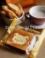 Wholesale!!New Cute cartoon Rilakkuma bread Toast squishy charm  / mobile phone strap Pendant,Free Shipping!!
