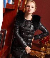 2012 winter women's luxurious vlsivery large raccoon fur down coat female medium-long slim Free shipping