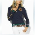 Free shipping!Fall 2012 new women's sportswear, women jacket casual polo jacket, zipper shirt, drop shipping S-XL