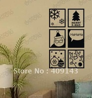 x mas deer tree snow  vinly PVC window sticker DIY art drawing house room wall quote decal decoration