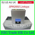 Unlocked Voip Gateway Linksys SPA2002 .AU Plug  With Retail Box, Wholesale and Retail