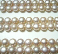 Free Shipping 30pair/lot Loose Freshwater Pearl Beads For DIY Jewelry Earring Purple 9-10mm MP04