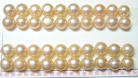 Free Shipping 30pair/lot Loose Freshwater Pearl Beads For DIY Jewelry Earring Pink 9-10mm  MP01