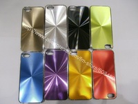 200pcs/lot Metal CD Design Chrome Hard Back Case Cover For Apple iPhone 5 5G Freeshipping
