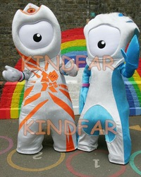London 2012 Olympic Games Wenlock and Mandeville Mascot Costume Cartoon Party Outfits Fancy Dress(China (Mainland))
