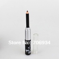 24pcs/lot 2In1Mascara + Eyeliner Pencil Extra Long Lasting Thick Black Volume Mascara 8ml 5348