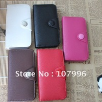 Wallet Leather Case with Credit/Business/ID card Holder For iPhone 5 5G 50pcs/lot