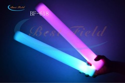 New arrival Custom-make logo Free shipping 15pcs/lot 4.5*40cm 7mode led foam stick for christmas(China (Mainland))