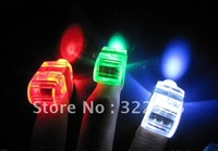 Free shipping Wholesale 30piece finger lamp ordinary party LED fiber optic finger light /  promotion gift D836