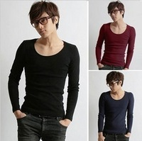 New fashion style autumn and winter cotton O-neck long-sleeve Bottoming shirts men's T-shirt free shipping LJ231
