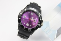DHL Free Shipping Black band Silicone watch with calendar sport wrist watch black watch with date no logo,500pcs/Lot