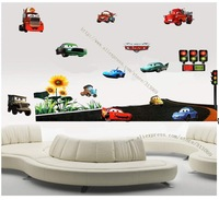 Free shipping ,assembled size 160cm*120cm, pixar car,Combination Wall Stickers, cartoon stickers