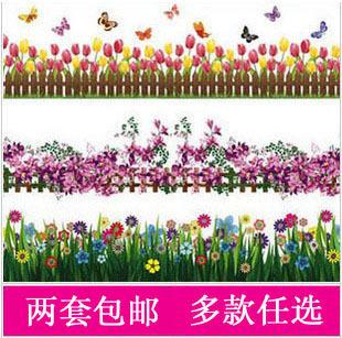 Free shipping Set waistline tijuexian wall stickers butterfly decoration Children room sticker 3pcs/ste(China (Mainland))