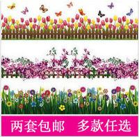 Free shipping Set waistline tijuexian wall stickers butterfly decoration  Children room sticker      3pcs/ste