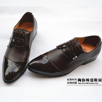 New arrival autumn trend fashion pointed toe male leather business formal leather casual shoes wedding shoes