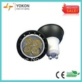 Free Shipping Wholesale Factory Price 6pcs/lot 5W 300LM Black GU10 LED Spotlight Bulbs