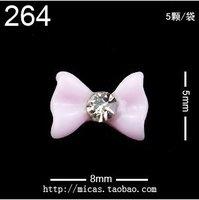 5 color 500pcs/lot Lovely Resin Bow with Rhinestone Nail Art Decoration nail art acrylic whit rhinestones diy nail art uv gel