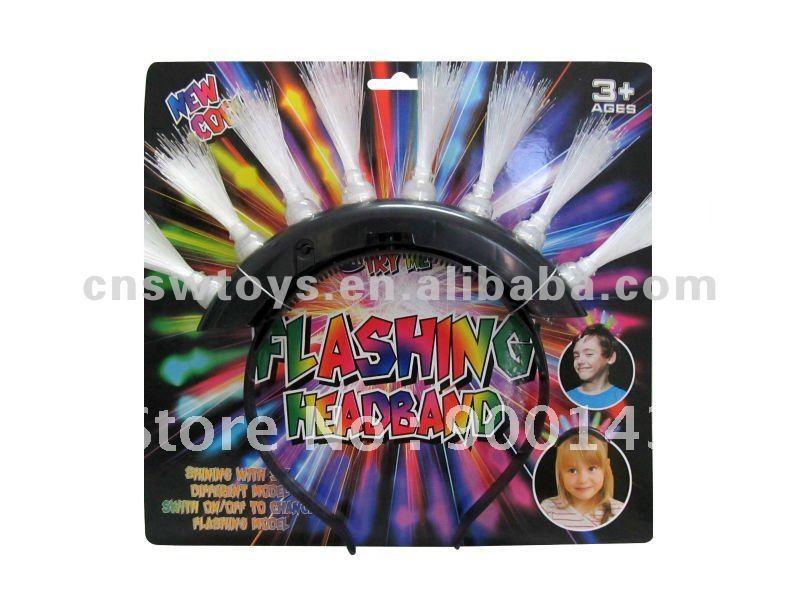 8 Led light Flashing Fiber Hairwear. Hot sale party toys! JR4600690(China (Mainland))