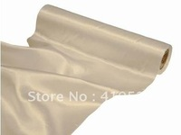 free shipping/Satin roll fabric\Satin fabric--30cm*9m--ivory color/table runners