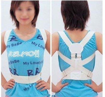 6312 Magnetic Back Shoulder Corrector Posture Orthopedic Support Belt Brace