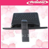 2014 New Arrival  free shipping Leather Stand Case Cover with Micro USB Keyboard For 7 Inch Tablet PC BK