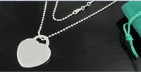 Wholesale 925 silver heart fashion necklace TF necklace 18 inches 10pcs