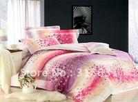 Romantic Cherry Blossoms prints duvet bedding sets 100% Pure Cotton comforter sets 5pcs Full or Queen Bed