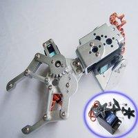 F03992-A 2 DOF Aluminium Robot Arm Clamp Claw Mount kit + 2 HDKJ D3609 9KG Metal gear Digital servo +Freeship